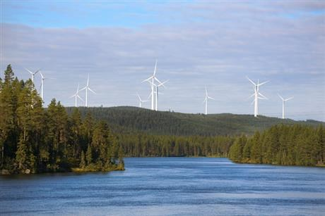 Wind farm at Stamasen