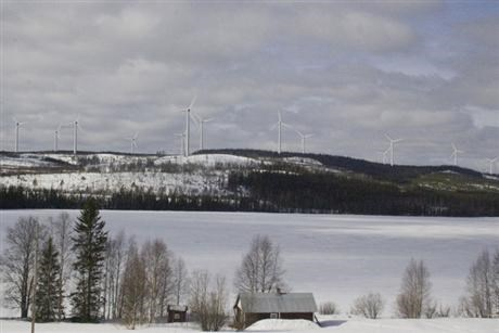 Wind power in Sweden from a distanse