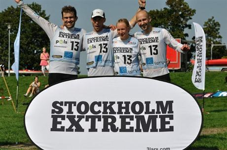 The team of Statkraft Adventure racing stockholm extreme