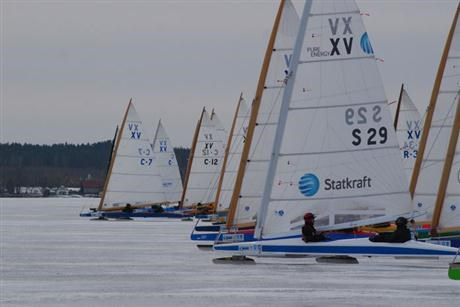 European Championship Ice yacht won by Statkraft team